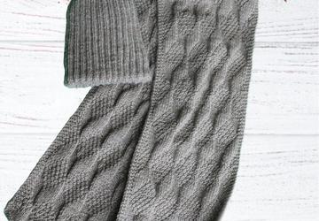 Шапка и шарфик  вязаные