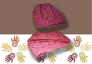 Вязаный комплект (шапочка и снуд в два оборота)