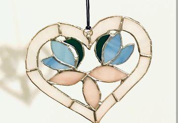 Витражная подвеска Сердце