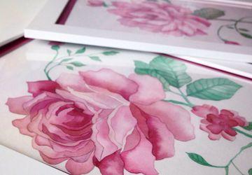 Пион и роза