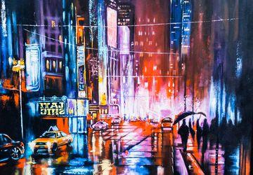 Огни ночного мегаполиса.