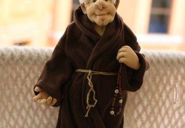"""Авторская кукла """"Монах"""""""