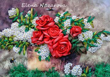 Розы в черемухе