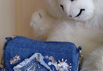 Джинсовая сумочка для девочки