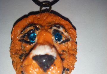 Тотем - кулон лев из глины ( заряженный)