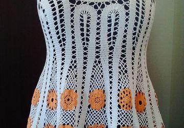 Блуза, вязанная крючком