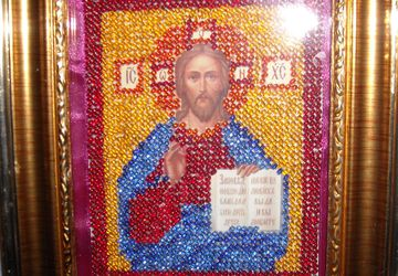"""Икона бисером """"Образ Иисуса Христа"""""""