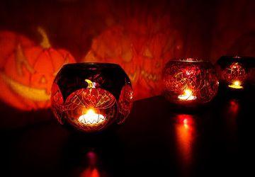 "Фонарь ""Happy Halloween"" (подсвечник на Хэллоуин)"