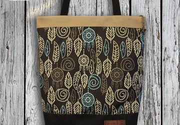 """Текстильная сумка """"Foliage"""" (коричневая)."""
