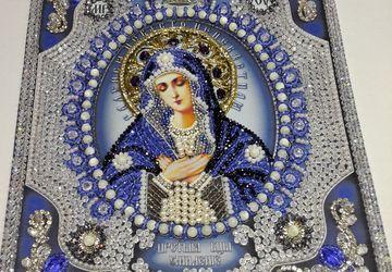 """Икона Умиление Богородица """"Образа в каменьях"""" Icon Tenderness of the Virgin"""