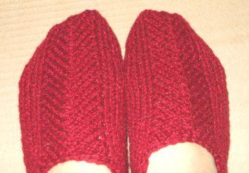 Теплые тапочки-носочки