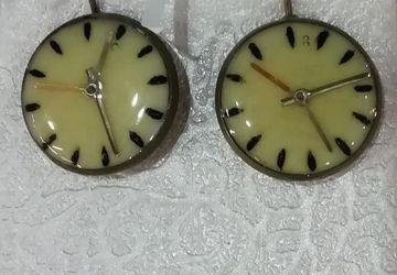 Серьги часы
