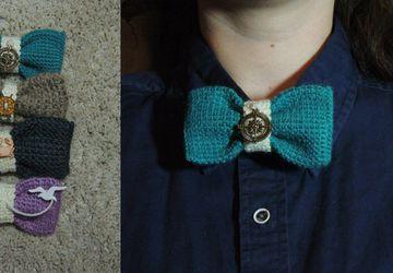 Вязаные галстуки-бабочки