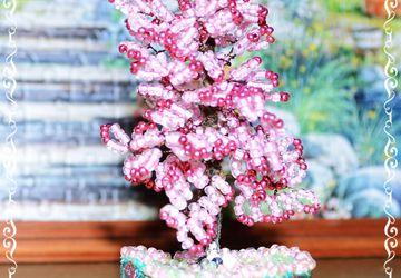 Дерево из бисера Сакура