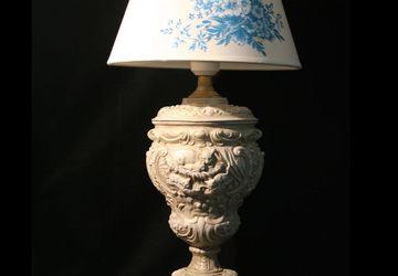 Лазурь - лампа настольная с абажуром
