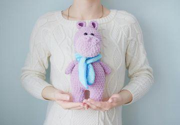 Плюшевая игрушка - плюшевый бегемот