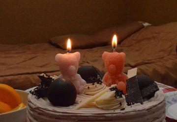 Мишка Тедди свеча для торта