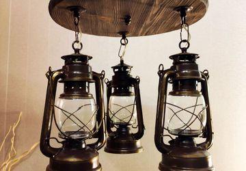 Люстра керосиновая лампа лофт ретро