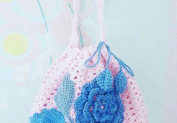 Вязаная сумка для девочки