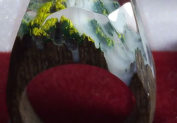Деревянное кольцо №1