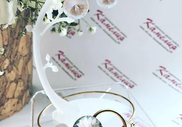 Комплект серьги и браслет с кристаллами сваровски