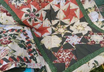 Детское лоскутное одеяло с декоративной наволочкой