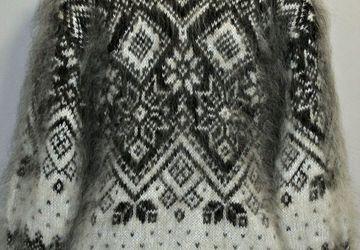 """Пуховый вязанный  свитер """"Флавия"""""""