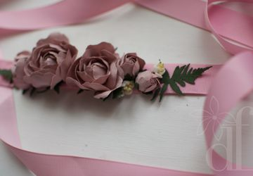 "Пояс с цветами ""Pinky Winky"""