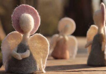 Шерстяные ангелы. Мастер - Катя Ветрова.