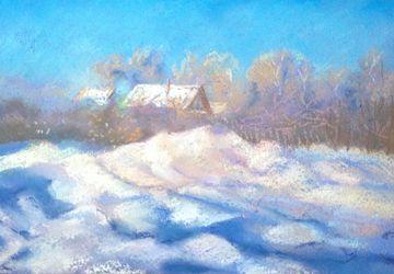пастель Зима