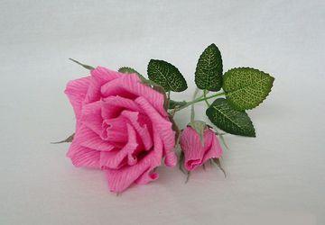 Как сделать розу из гофрированой бумаги своими руками. Пошаговая инструкция с фото