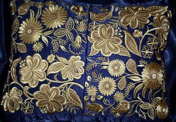 Подушка с золотой вышивкой