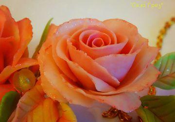 """Колье """"Осенние розы""""🍂"""