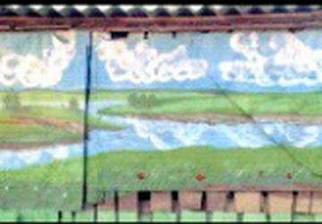 Оформление стен. Рисунки на стене.