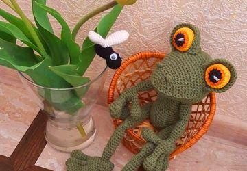 Лягушка вязаная