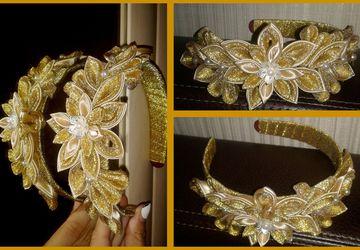 Ободок для золотой королевы