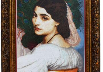 Вышитая крестом картина - Павония (Pavonia) Frederic Leighton