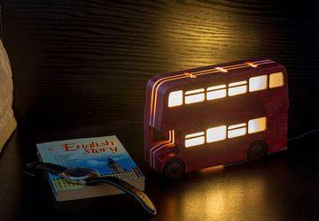 """Ночник """"Лондонский автобус"""" бордовый"""