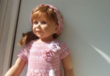 Детское платье с повязкой на голову