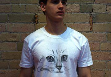 """Мужская футболка с авторским принтом """"Кот"""""""