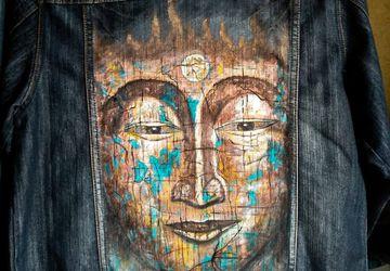 Джинсовка, ручная роспись