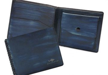 Портмоне CANGURIONE 1113-020 Dark-Blue Hand Made