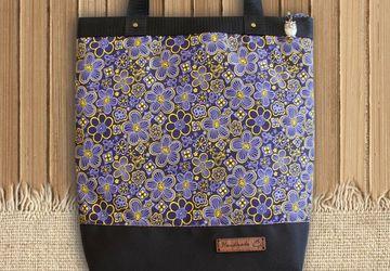 "Текстильная сумочка шоппер ""Цветы""."