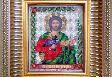 Икона из бисера Св. Артемий