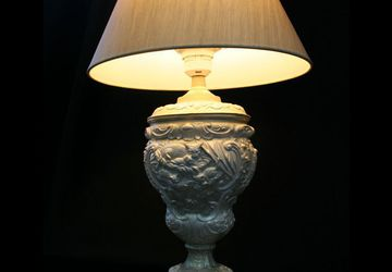 Жемчужная симфония - настольная лампа с абажуром!
