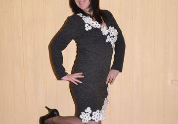 Платье из ангоры .