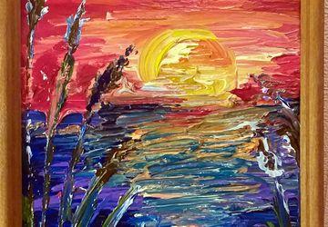 """картина """"Рассвет на Волге"""""""
