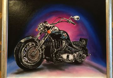 Картина маслом «Мотоцикл Харли Дэвидсон»