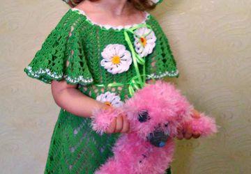 Платье и шляпка с ромашками ,нарядное для девочки !