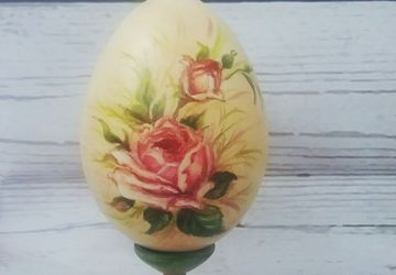 Яйцо шебби шик, расписное